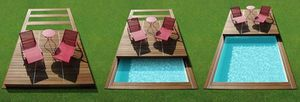 cubierta para piscina de botón