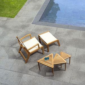 sillón clásico / de Batyline® / de teca / gris