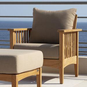 sillón contemporáneo / de teca / de jardín
