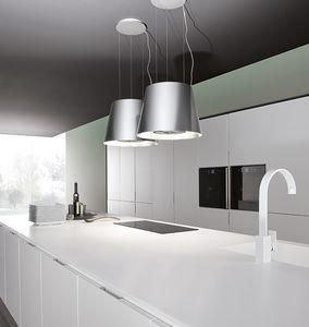 campana extractora de isla / de diseño original / con iluminación integrada