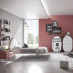 habitación para niños roja / de melamina / de aluminio anodizado / unisex