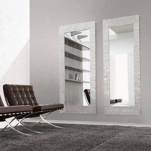 espejo de pared / contemporáneo / rectangular / de aluminio