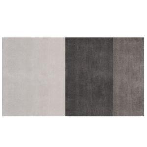alfombra contemporánea / de rayas / de lana / de viscosa