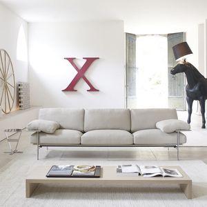 sofá contemporáneo / de cuero / de tejido / de Paolo Nava