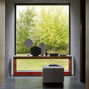 consola contemporánea / de madera / de contrachapado / rectangular