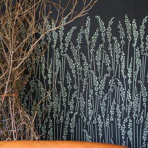 papel pintado contemporáneo / con motivos florales / gris / azul