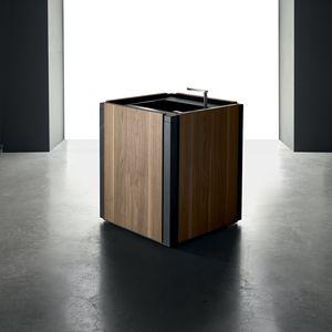 mueble para fregadero de madera