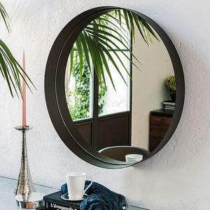 espejo de pared / contemporáneo / redondo / de acero