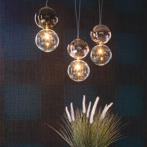lámpara suspendida / contemporánea / de acero / de bronce