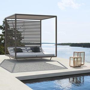 cama de jardín con dosel / de matrimonio / contemporánea / reclinable
