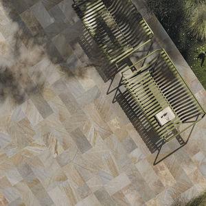 baldosa de exterior / de suelo / de pórfido / rectangular