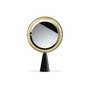 espejo de sobremesa / con luz LED / contemporáneo / redondo