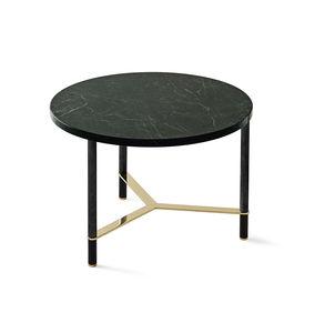 mesa de centro contemporánea / de madera / de mármol / con base de aluminio anodizado