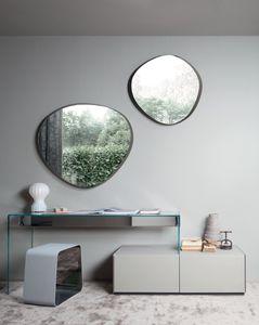 escritorio de aluminio / de acero inoxidable / de vidrio / contemporáneo