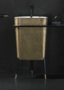 lavabo de pie / de cobre / contemporáneo