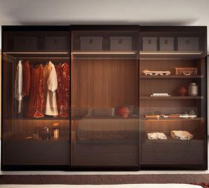 armario modular / contemporáneo / de vidrio / de metal