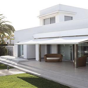 toldo con cofre / manual / motorizado / para terraza
