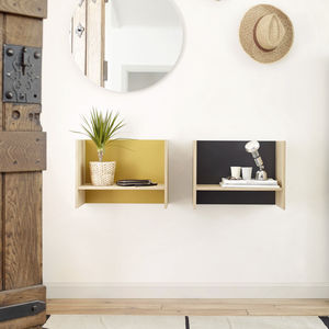 estantería mural / contemporánea / de madera lacada / de roble