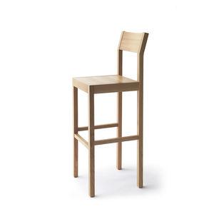 silla de bar contemporánea / tapizada / de roble / de fresno