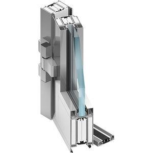puerta de interior / abatible / de aluminio / acústica