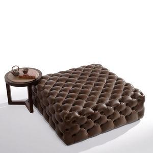 otomana contemporánea / de tejido / de cuero / tapizada