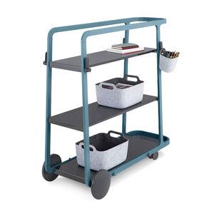mesa carrito de oficina / para el sector servicios / de metal / de plástico