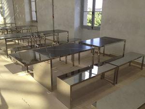 tablero de mesa de piedra natural