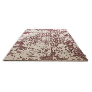alfombra contemporánea / con motivos / de lana / rectangular