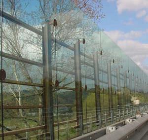 muro antirruido de vidrio