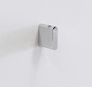 percha contemporánea / de metal cromado / de latón / de baño