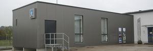 edificio modular / temporal / remolcable / de acero