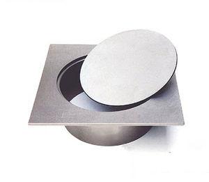 tapadera de inspección de acero inoxidable