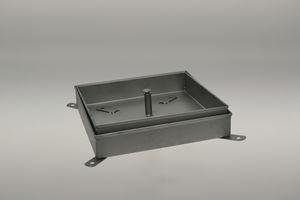 tapadera de inspección de acero inoxidable / rectangular / a medida