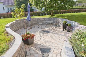 muro de contención de piedra / modular / para valla de jardín