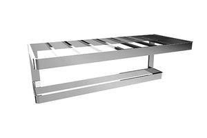 toallero 1 barra / de pared / de latón / de acero inoxidable