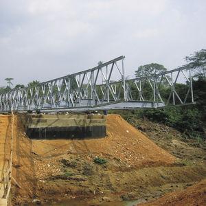 puente con estructura / de acero galvanizado / prefabricado / modular