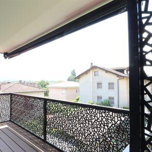 barandilla de material compuesto / de HPL / con paneles / de exterior