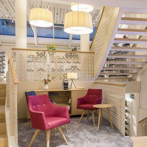barandilla con paneles / de interior / para escalera / para altillo