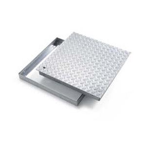 tapadera de inspección de acero galvanizado / cuadrada / prefabricada
