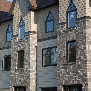 fachaleta de ladrillo de hormigón de alto rendimiento / de exterior / aspecto piedra / decorativo