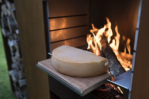 plancha de cocción de leña / profesional / de jardín