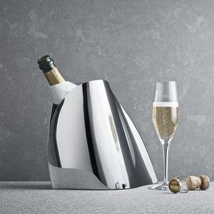 champanera de acero inoxidable pulido