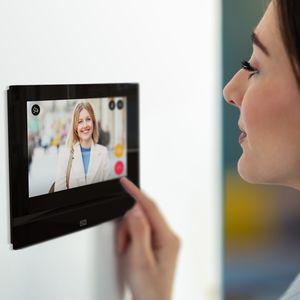 videoportero con manos libres / táctil / IP / para control de acceso