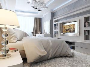 espejo de pared / con televisión integrada / contemporáneo / rectangular