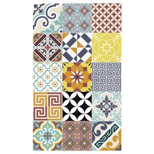 alfombra contemporánea / con motivos / de vinilo / rectangular