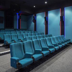 butaca de cine de tejido