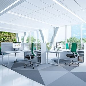 escritorio para open space / de metal / de material laminado / de melamina