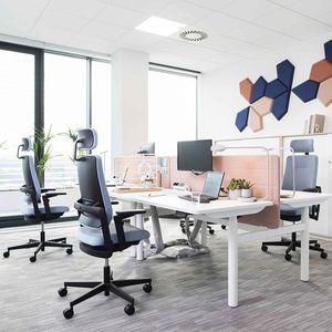 silla de oficina contemporánea / con ruedas / con patas en forma de estrella / con reposabrazos