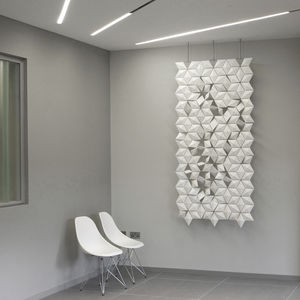 panel decorativo de aluminio / para interiores / blanco / de efecto dimensional