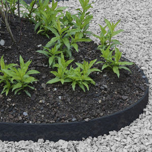 bordillo de jardín / de plástico reciclado / curvado / recto